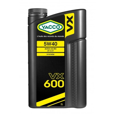 Huile Moteur Yacco VX 600 5W40