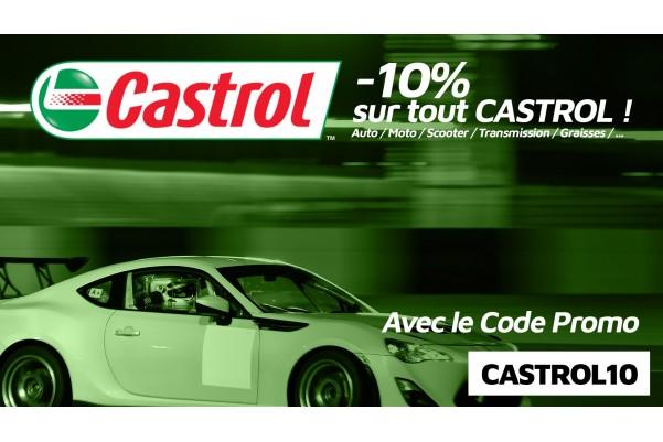 -10% sur Castrol pour le Black Friday avec le code promo CASTROL10